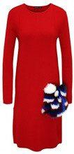 APART Fashion 47703, Vestito Donna, Rosso Rot, 42