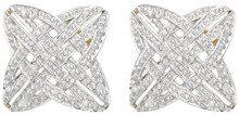 E-11630 - Orecchini a lobo da donna con diamante, oro giallo 9k (375)