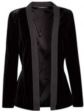 ESPRIT Collection 118eo1g006, Blazer Donna, Nero (Black 001), 44 (Taglia Produttore: 38)