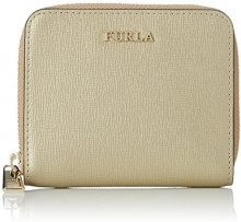FURLA Babylon S Zip Around - Portafogli Donna, Oro (Color Gold), 2x9x11 cm (B x H T)