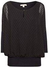 ESPRIT 118ee1f005, Camicia Donna, Nero (Black 001), Medium