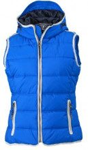 James & Nicholson - Weste Ladies' Maritime Vest, Giacca Donna, Blu (Nautic-Blue/White), XX-Large (Taglia Produttore: XX-Large)