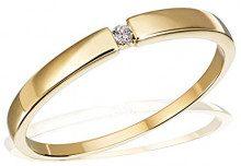 Goldmaid Anello da Donna, Oro Giallo 585, Diamante, Brillante, Misura 60 (19.1)