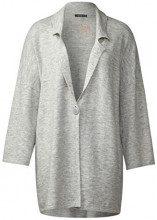 Street One Oversized Knit Blazer, Cardigan Donna, Grau (Cyber Grey Melange 10767), 40 (Taglia produttore: 34)