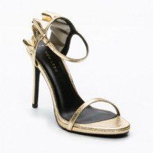 Sandali - color oro - tacco: 11 cm - gambale: 8 cm
