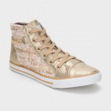Sneakers alte - oro e rosa pallido