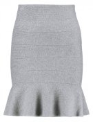 NMKATNIS - Minigonna - light grey melange