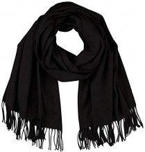 Vero Moda Vmana Wool Long Scarf Noos, Sciarpa Donna, Nero Black, Taglia Unica