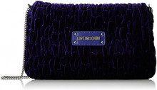 Love Moschino Borsa Fabric Viola - Borse a tracolla Donna, Violett (Violet), 17x28x5 cm (B x H T)