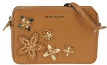 'Camera bag Flowers' in pelle