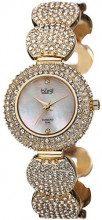 Burgi'da donna, con zircone, con cristalli, colore: oro, tonalità Orologio da donna