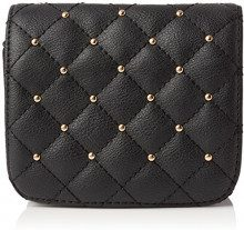 New Look Diamond Quilt Stud Purse, Cintura Donna, Nero (Black), S/M