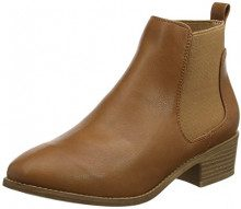 New Look Abstract Pu Low, Stivali Chelsea Donna, Avorio (Tan 18), 37 EU