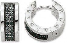 Thomas Sabo Collana da Donna argento 925 Zirconia cubica Nero