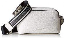 Calvin Klein Race Crossbody - Borse a tracolla Donna, Bianco (Bright White), 8x20x13 cm (B x H T)
