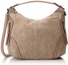 SwankySwans Alia Faux Leather Hobo Bag - Borse a spalla Donna, Marrone (Tan), 12x24x24 cm (W x H x L)