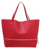 Shopping bag - matt red