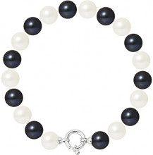 Pearls & Colors Bracciale intrecciato Donna argento 925_argento perla rotonda - AM17-BRA-AG-R910-AML-WHBL