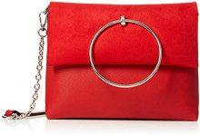 New Look Matilda Metal Handle - Borse a spalla Donna, Rosso (Bright Red), 5x14x25 cm (W x H L)