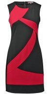 Vestito di maglina - red/black