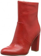 Steve Madden Editor Ankle Boot, Stivaletti Donna, Rosso (Red Leather 607), 39 EU