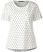 Cecil 312677, T-Shirt Donna, Mehrfarbig (Pure off White 20125), L