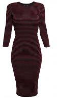 Vestito di maglia - black/red