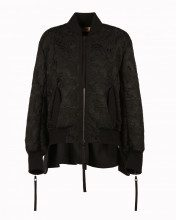 Giacca Bomber In Pizzo Floreale