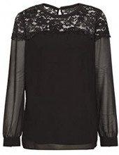 ESPRIT Collection 128eo1f008, Camicia Donna, Nero (Black 001), 44 (Taglia Produttore: 38)