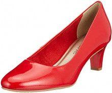 Tamaris 22493-21, Scarpe con Tacco Donna, Rosso (Chili Patent 520), 37 EU