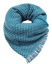 ESPRIT Accessoires 108ea1q021, Sciarpa Donna, Blu (Teal Blue 455), Unica (Taglia Produttore: 1SIZE)