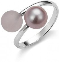 Adriana dreambase-anello 925 argento rodiato luenette Gelato rosa perla-acqua dolce misura 56 (17,8) Regolabile - AGR7-56 gr.
