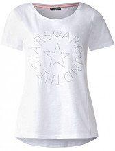 Street One 312360, T-Shirt Donna, Bianco (White 10000), 46