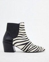 Stivali con stampa zebrata