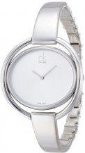 Calvin Klein Damen-Armbanduhr Analog Quarz Edelstahl K4F2N116