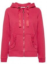 edc by Esprit 108cc1j001, Felpa Donna, Rosso (Cherry Red 615), Large