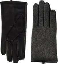 PIECES Pcjunilla Leather Wool Glove, Guanti Donna, Grigio (Medium Grey Melange), Large