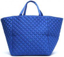 Shopper lavorata blu