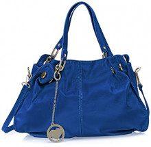 Chicca Borse Cbc3305tar, Borsa a Spalla Donna, Blu (Bluette), 12x30x38 cm (W x H x L)