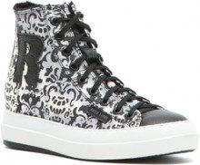 Sneakers alte con fantasia maoliche