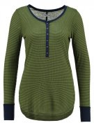Maglietta a manica lunga - green/navy