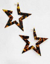 Orecchini a stella tartarugati