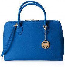Chicca Borse Cbc3313tar, Borsa a Mano Donna, Blu (Bluette), 12x27x37 cm (W x H x L)