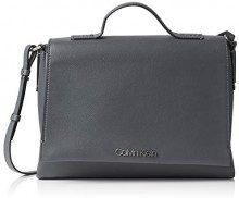 Calvin Klein Jeans Frame Top Handle Satchel - Borsette da polso Donna, Grigio (Steel Greystone), 11x24x30 cm (B x H T)