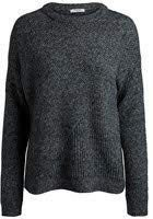 PIECES Pcfania LS Knit, Felpa Donna, Grigio (Dark Grey Melange), 44 (Taglia Produttore: Medium)