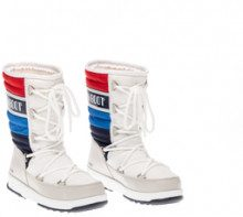 Moon boot We Quilted junior bianco rosso e blu