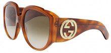 Gucci GG0151S 003, Occhiali da Sole Donna, Marrone (Avana/Brown), 61