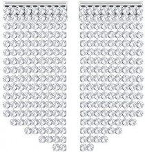 Swarovski Orecchini Fit Short, bianco, placcatura palladio
