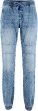 Jeans senza chiusura in stile biker