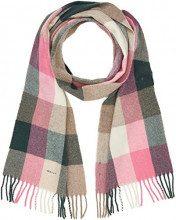 Gant O2. Multicheck Lambswool Scarf, Sciarpa Donna, Rosa (Pink Embrace Mel 687), Taglia Unica